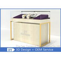 China Quarter Vision Jewellery Shop Display Counter With LED Pole lights wholesale