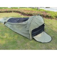 China Canvas Famliy 2 Man Swag Tent , YKK Zipper Swag Bag Tent With Aluminum Pole wholesale
