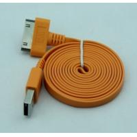 China Yellow Flat USB2.0 Cable to 30 Pins for Iphone4/4S/4C wholesale