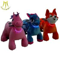 China Hansel high quality stock coin operated plush electric animal bike for sale manufacturer on sale