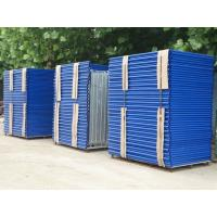 Quality Blue Painted Steel Q235 Frame Scaffolding System For Building Projects / Yard Construction for sale