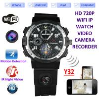 China Y32 32GB 720P WIFI IP Spy Watch Camera Wireless Remote CCTV Video Monitor IR Night Vision Home Security Nanny Camera wholesale