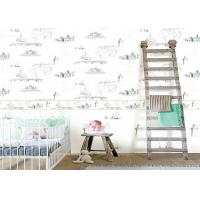 Quality 0.53*10m / Roll Kids Bedroom Wallpaper , House Pattern Children'S Room Wallpaper for sale