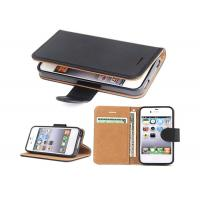 China Black Slim Apple iphone Leather Case For Apple iPhone 4 4.8*2.7*0.9 Inches wholesale