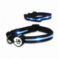 China LED Lighted Dogs Collars, Powered by Two Replaceable CR 2032 Batteries wholesale