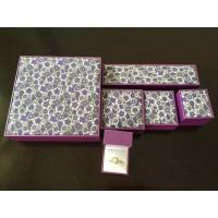 China Classic Leatherette Earring Chain Jewellery Packaging Boxes With Gold Logo Printing wholesale
