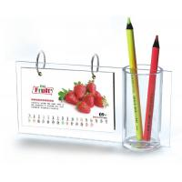 Quality Desktop A5 Acrylic Calendar Pen Holder Frames L Type For Home for sale