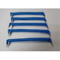 China Hot Selling 120MM Coil Length Blue Wire Coiled Tool Tether w/Eyelets 2PCS wholesale