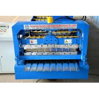 China Blue Color Roofing Sheets Manufacturing Machine , Roll Forming Line High Speed on sale