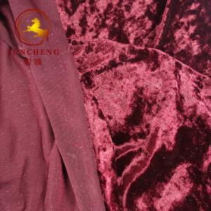 China china factory weft knitted velvet/velour/crush velvet for garment and chair cover wholesale