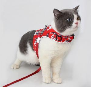 China S M L XL Full Body Cat Harness Reflective Strip Waistcoat wholesale