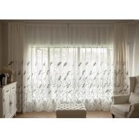 China Country Style white window curtains , Embroidered modern bedroom curtains wholesale
