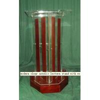 China Modern Acrylic Furniture Pulpit, Plexiglass Lectern With Wood Bar wholesale