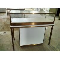 China Durable Jewelry Store Fixtures  / Store Display Cases With Stainless Steel Frame wholesale