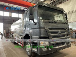 China Sinotruk Howo 20m3 10 Ton LPG Gas Tanker Truck With Flow Meter wholesale