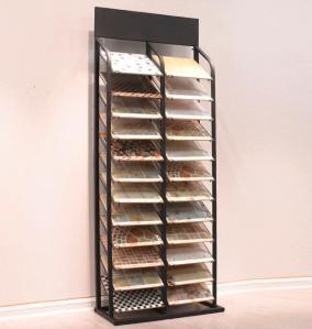 China 12 Layer 24 Piece Metal Floor Tile Display Rack Retail Showroom Fixtures on sale