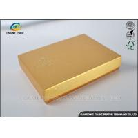 China Light Weight Chocolate Gift Boxes , Cardboard Boxes With Lids Golden Covering wholesale
