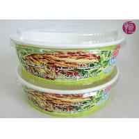 26 Ounce Logo Printed Paper Salad Bowls For Grill , Disposable Paper Food Containers