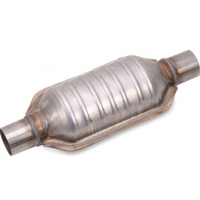 """China Universal Fit 2"""" X 2"""" Inlet / Outlet Oval Catalytic Converter 304 Stainless Steel wholesale"""