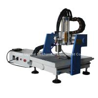 China Desktop 360*360mm Mini CNC Metal Carving Machine with DSP Control wholesale