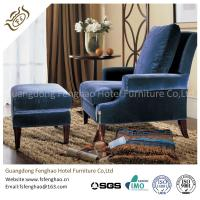 Buy cheap Comfortable Button - Tufted Wooden Velvet Chaise Lounge Chair With Ottoman from wholesalers
