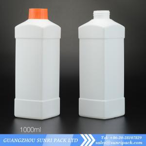 China High qulity 1000ml plastic HDPE bottles for liquid 1000ml detergent bottle wholesale