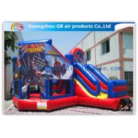 China Commercial Spiderman Inflatable Bouncy Castle Kids Inflatable Bouncer With Slide wholesale