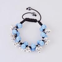 China Quality guarantee & competitive price Shamballa Crystal Bangle Bracelets with 6 alloy bead wholesale