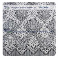 China White Nylon Polyester Lace Fabric wholesale