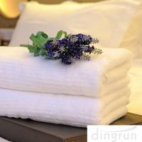 China White Color Luxury Pure Cotton Bath Towels Home / Hotel Use Soft Touch Azo Free wholesale