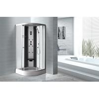 China Matt Silver Profiles Curved Glass Shower Enclosures , Enclosed Shower Cubicles wholesale