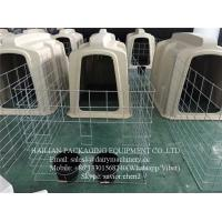 China Plastic Calf Hutch With Stainless Steel Fence And Cow Cubicles For Dairy Farm on sale