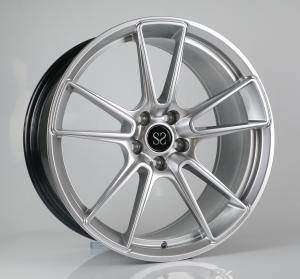 China 19 inch hyper silver aluminum alloy car wheel rims factory china wholesale