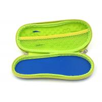 Quality Zipper Close Hard Pencil Case / Personalised Pencil Case For Boys , Yellow Color for sale