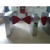 China 950 mm Clear Passage Width Security Gate Barrier , Wheelchair Access Flap Turnstile wholesale