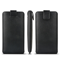 China Pull Tab Soft Flexible OEM Genuine Leather Cases wholesale