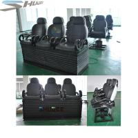 China Newest 3 DOF Pneumatic / Hydraulic Black Motion Theater Chair With Dustproof Plastic Cover wholesale