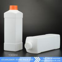 China High qulity 1000ml plastic HDPE bottles for liquid 1000ml detergent bottle wholesale