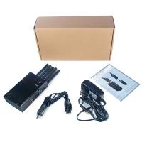 Quality 5 Antenna Handheld Cell Phone 3G WIFI GPS GSM CDMA DCS PHS Signal Jammer 20M for sale