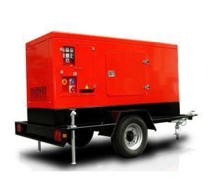 China Mobile Trolley 630A DC Diesel Welder Generator Trailer Dual Handles 20kw ARC Welding Genset on sale