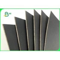 China 1.5MM 2MM 2.2MM 70*100cm Black Paper With Grey Back For Boxes Packing wholesale