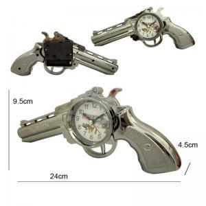 Quality Plastic Revolver Gun Shape Alarm Clock for sale
