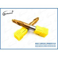 China High Efficiency 2- Flute Ball Tungsten Carbide End Mill With TiC Coating Outside wholesale
