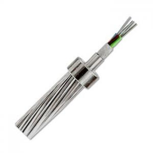 China Composite Overhead Ground Wire ACS OPGW Fiber Optic Cable on sale