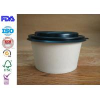China Firm Kraft Paper Salad Bowls / Reliable Paper Soup Bowls Eco - Friendly wholesale