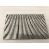 China SUS 304 316 Stainless Steel Wedge Wire Screen 1mm Slot Size For Filter Mesh wholesale