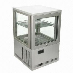 China 4-side Glass Door 2-layer Sandwich/Bakery/Dessert Storage Display Fridge, 220V Voltage wholesale