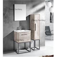 China Modern MDF Bathroom Vanity Classic Waterproof Design With Side Cabinet wholesale