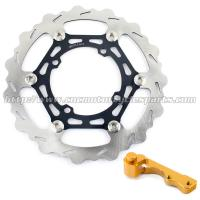 China Kawasaki Motorcycle 270mm Oversize Brake Disc KX 125 250 And Aluminum Bracket wholesale
