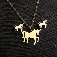 China Gold plated horse animals shape pendant nekclace ,earrings jewelry sets on sale